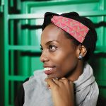 Velvet wire headband with shweshwe detail